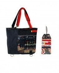 peSeta backpack bag + long purse kit