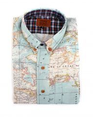 peSeta blue map man shirt
