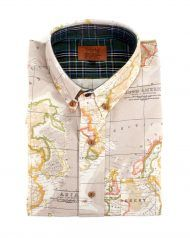 peSeta beige map man shirt