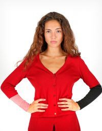 peSeta Piloña red cardigan