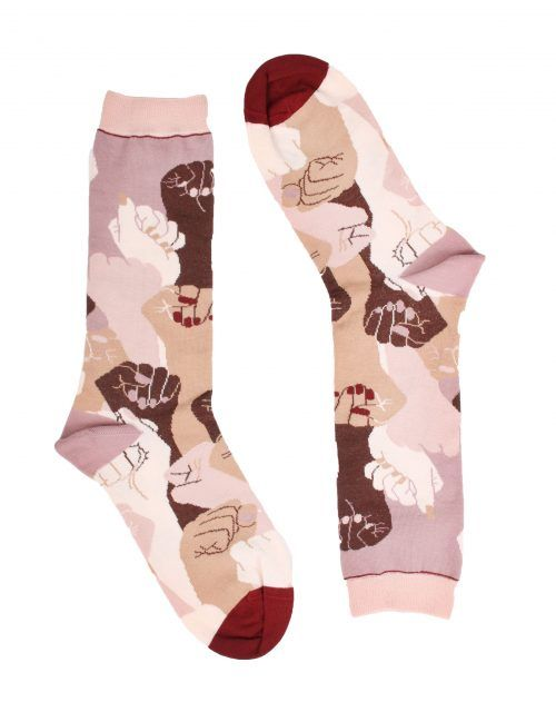 peSeta calcetines estampados exclusivos feministas
