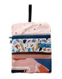 Printed big wallet with lots of compartments.