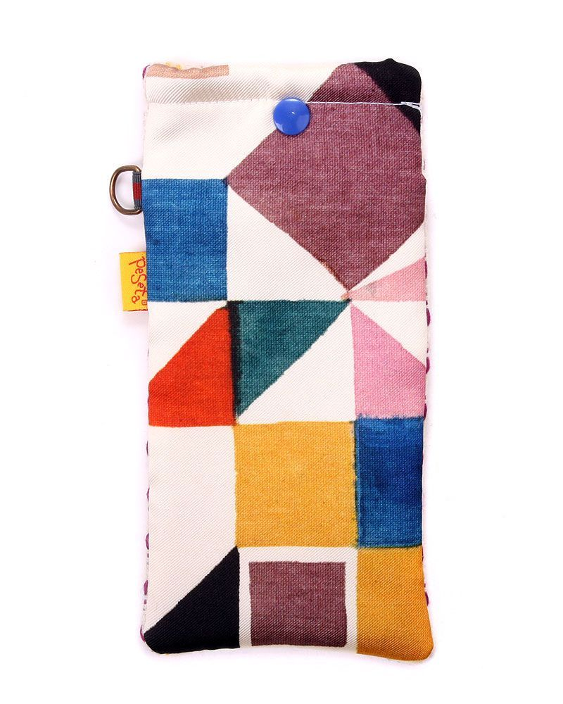 Original printed padded glasses case made in Spain. Also suitable as a phone case, pencil case